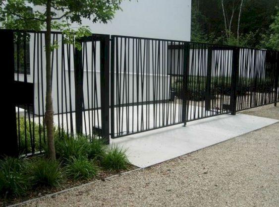 minimalist+steel+gate
